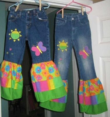 Its A Spring Thing Applique Jeans